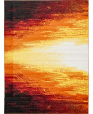 Politan Pol1 Orange 9' x 12' Area Rug