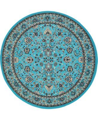 Arnav Arn1 Turquoise 8' x 8' Round Area Rug