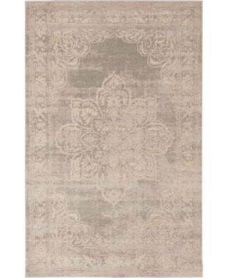 Caan Can4 Gray 6' x 6' Round Area Rug