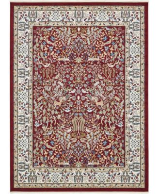 Zara Zar7 Burgundy 10' x 13' Area Rug