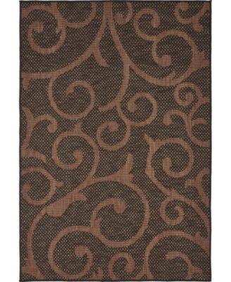 Pashio Pas7 Chocolate Brown 4' x 6' Area Rug