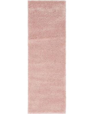 """Uno Uno1 Pink 2' 2"""" x 6' 7"""" Runner Area Rug"""