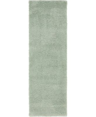 "Uno Uno1 Light Blue 2' 2"" x 6' 7"" Runner Area Rug"