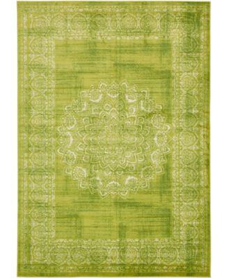 Linport Lin5 Light Green 7' x 10' Area Rug