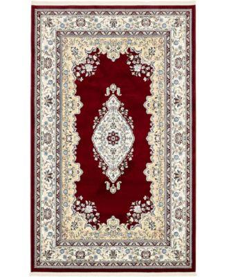 Zara Zar1 Burgundy 5' x 8' Area Rug
