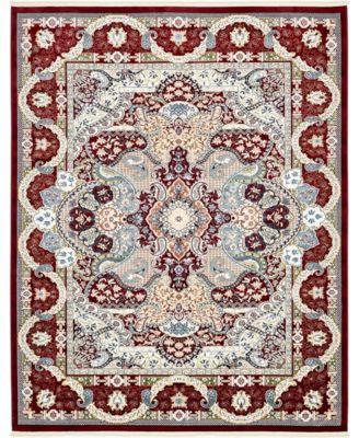 Zara Zar2 Burgundy 8' x 10' Area Rug
