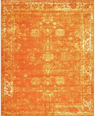 Basha Bas1 Orange 4' x 6' Area Rug