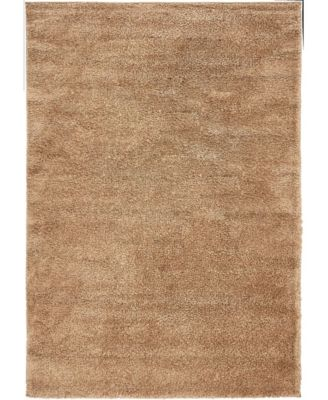 "Uno Uno1 Light Brown 5' x 7' 7"" Area Rug"