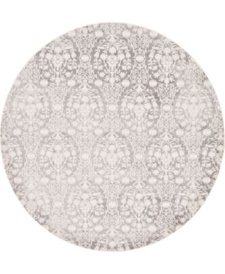 Norston Nor5 Gray 8' x 8' Round Area Rug