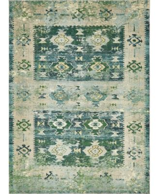 Newhedge Nhg3 Green 9' x 12' Area Rug