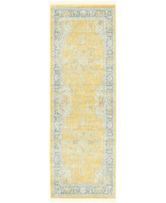 "Kenna Ken1 Yellow 2' 2"" x 6' Runner Area Rug"