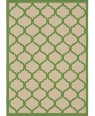 Pashio Pas5 Green 7' x 10' Area Rug
