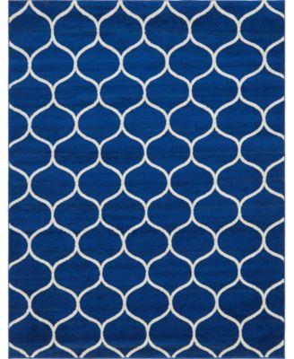 Plexity Plx2 Navy Blue 8' x 10' Area Rug