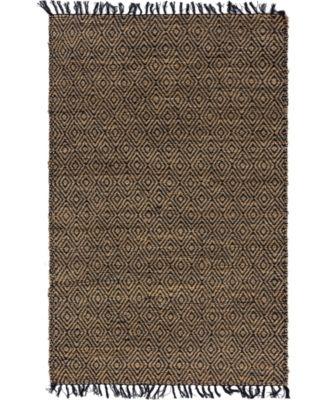 Braided Tones Brt3 Natural/Black 5' x 8' Area Rug