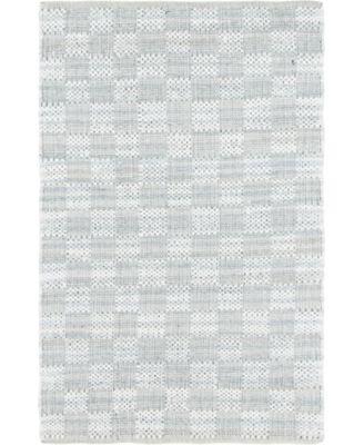 Jari Checkered Jar2 Ivory 4' x 6' Area Rug