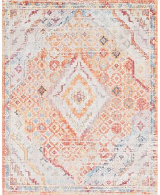 Zilla Zil1 Orange 8' x 10' Area Rug