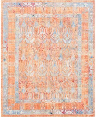 Zilla Zil2 Orange 8' x 10' Area Rug