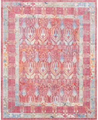 Zilla Zil2 Red 8' x 10' Area Rug