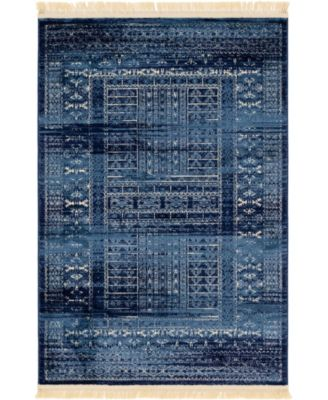 Borough Bor4 Blue 4' x 6' Area Rug