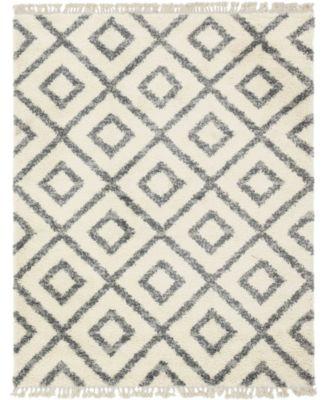 Lochcort Shag Loc2 Ivory 8' x 10' Area Rug