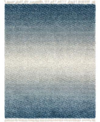 Lochcort Shag Loc5 Blue 8' x 10' Area Rug