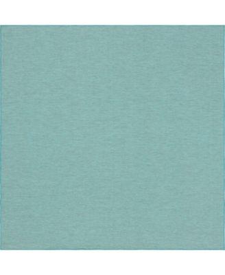 "Pashio Pas8 Turquoise 10' 2"" x 10' 3"" Square Area Rug"