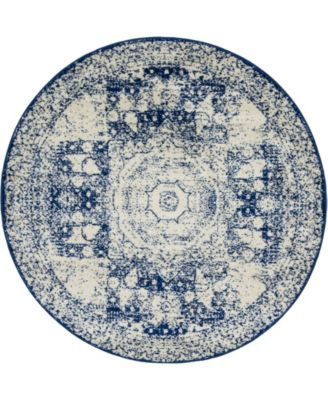 Mobley Mob2 Blue 5' x 5' Round Area Rug