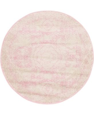Mobley Mob2 Pink 3' x 3' Round Area Rug