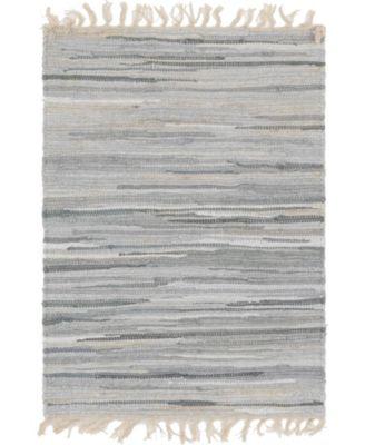 "Jari Striped Jar1 Gray 2' 2"" x 3' Area Rug"