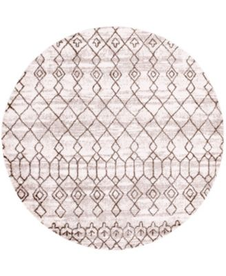 """Levia Lev1 Brown 8' 4"""" x 8' 4"""" Round Area Rug"""