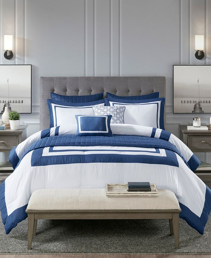 Madison Park - Heritage 8-Pc. Comforter and Coverlet Set Collection
