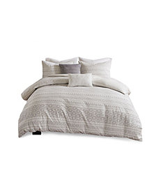 Urban Habitat Lizbeth King/California King 5 Piece Cotton Clip Jacquard Duvet Cover Set
