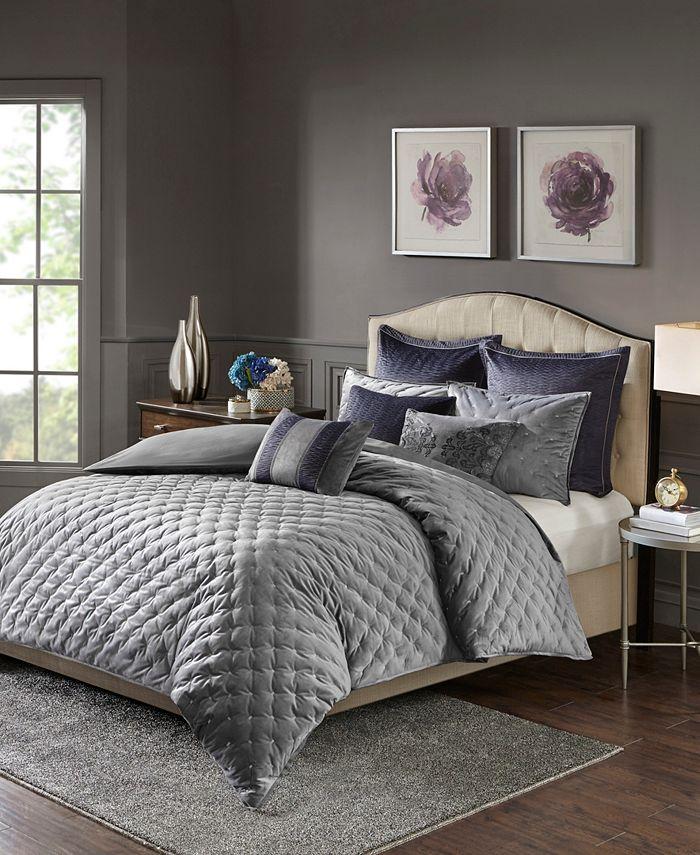 Madison Park - Signature Sophisticate 8-Pc. Velvet Comforter Sets