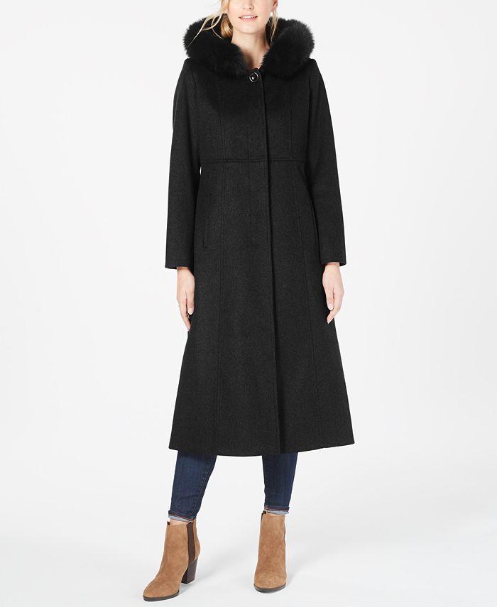 Forecaster - Fox-Fur-Trim Hooded Maxi Coat