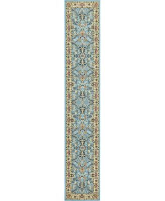 "Arnav Arn1 Light Blue 3' x 16' 5"" Runner Area Rug"