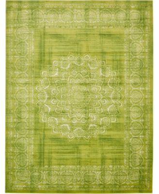 Linport Lin5 Light Green 10' x 13' Area Rug