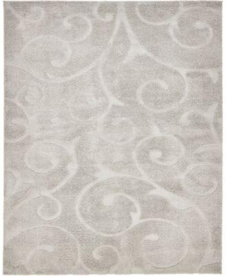 Malloway Shag Mal1 Light Gray 8' x 10' Area Rug