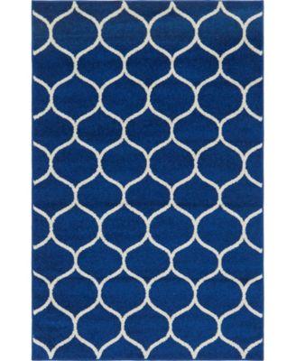 Plexity Plx2 Navy Blue 4' x 6' Area Rug