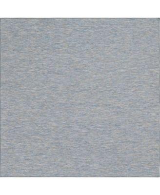 "Pashio Pas8 Blue 10' 2"" x 10' 3"" Square Area Rug"