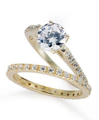Giani Bernini Sterling Silver Ring Set Cubic Zirconia Wedding