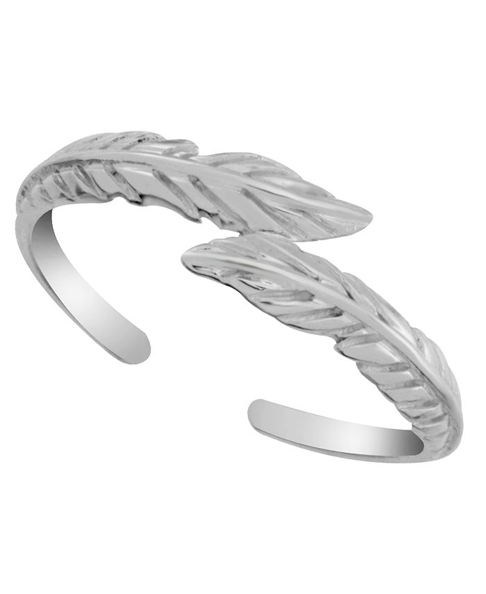 Giani Bernini - Sterling Silver Feather Bypass Adjustable Toe Ring