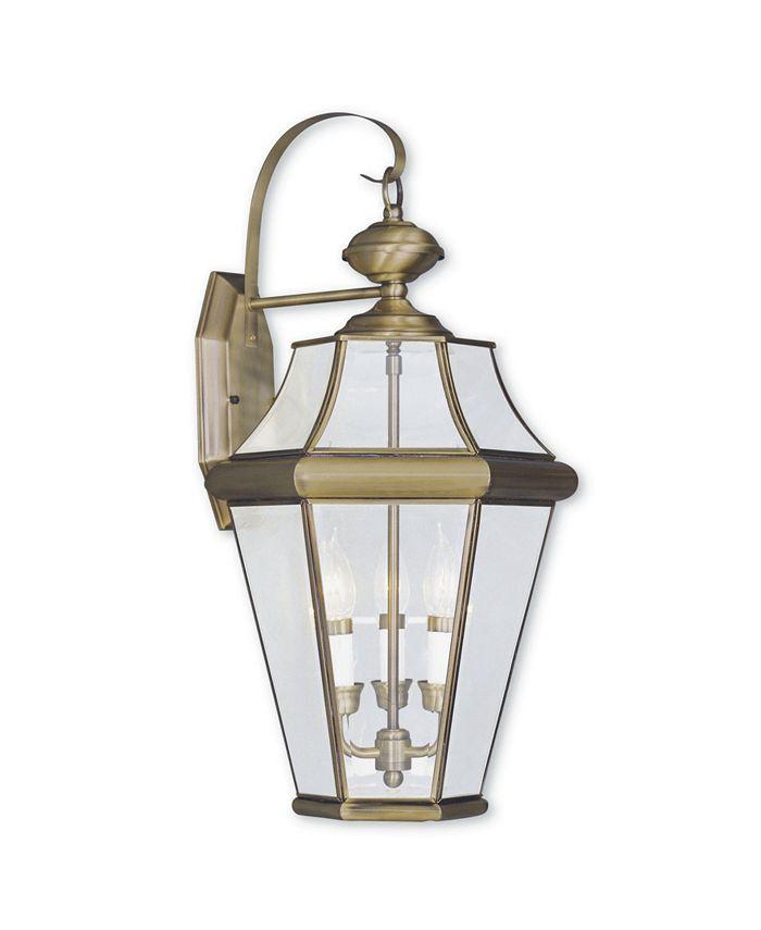 Livex - Georgetown 3-Light Outdoor Wall Lantern