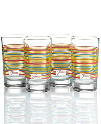 Fiesta Glassware Set of 4 Flamingo Stripe Juice Glasses  sc 1 st  Macy\u0027s & Fiesta Glassware Set of 4 Flamingo Stripe Juice Glasses - Dining ...