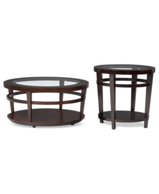 avalon tables 2 piece set coffee table and end table - Macys Coffee Table