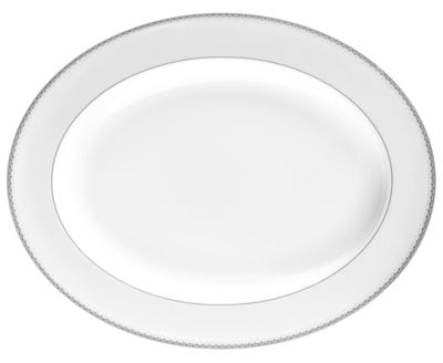 "Monique Lhuillier Waterford Dinnerware, 13.5"" Dentelle Platter"