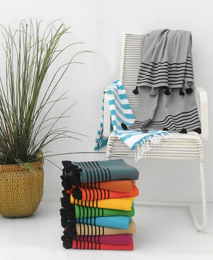Enchante Home - Capri Pestemal Fouta Turkish Cotton Beach Towel