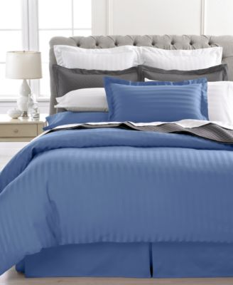 Charter Club Damask Stripe 500 Thread Count King Duvet Cover