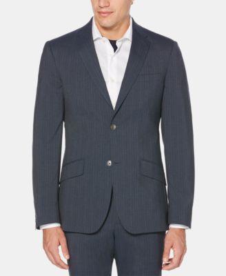 Men's Slim-Fit Striped Suit Jacket