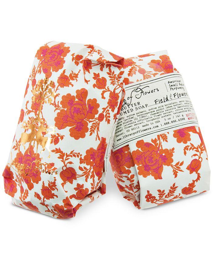 Library of Flowers - Field & Flowers Soap, 5-oz.
