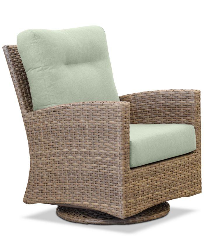 Furniture - Grand Stafford Outdoor Swivel Chair with Sunbrella® Cushions